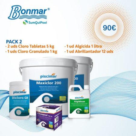 Pack 2 producto químico piscinas bonmar