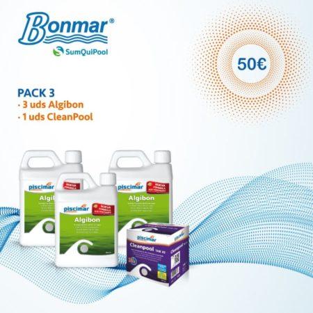 Pack 3 productos químicos piscinas